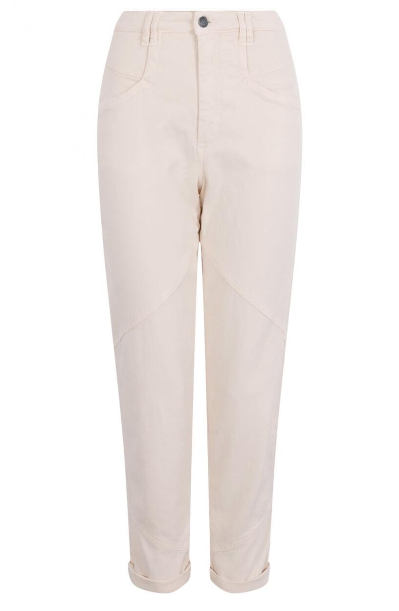 Anna Dames High-waist jeans Wit