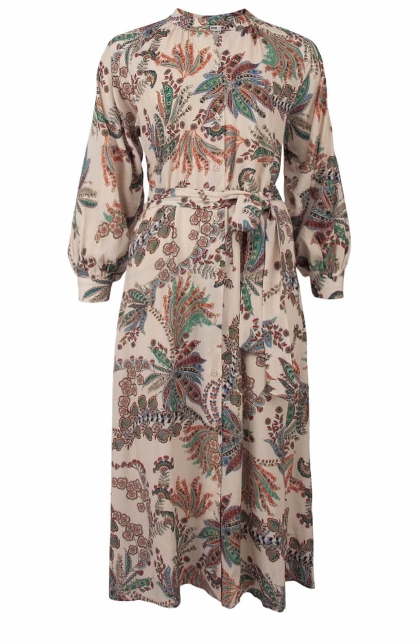 Anna Dames Paisley blousejurk Wit