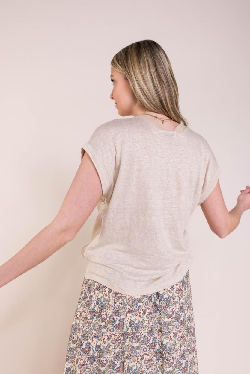 Anna Dames Glanzend blouseshirt Wit