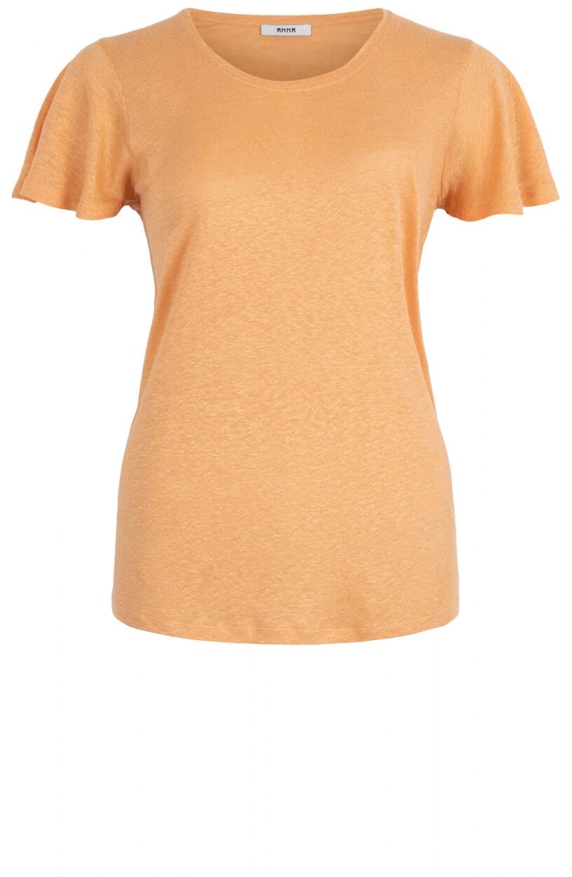 Anna Dames Linnen shirt Oranje