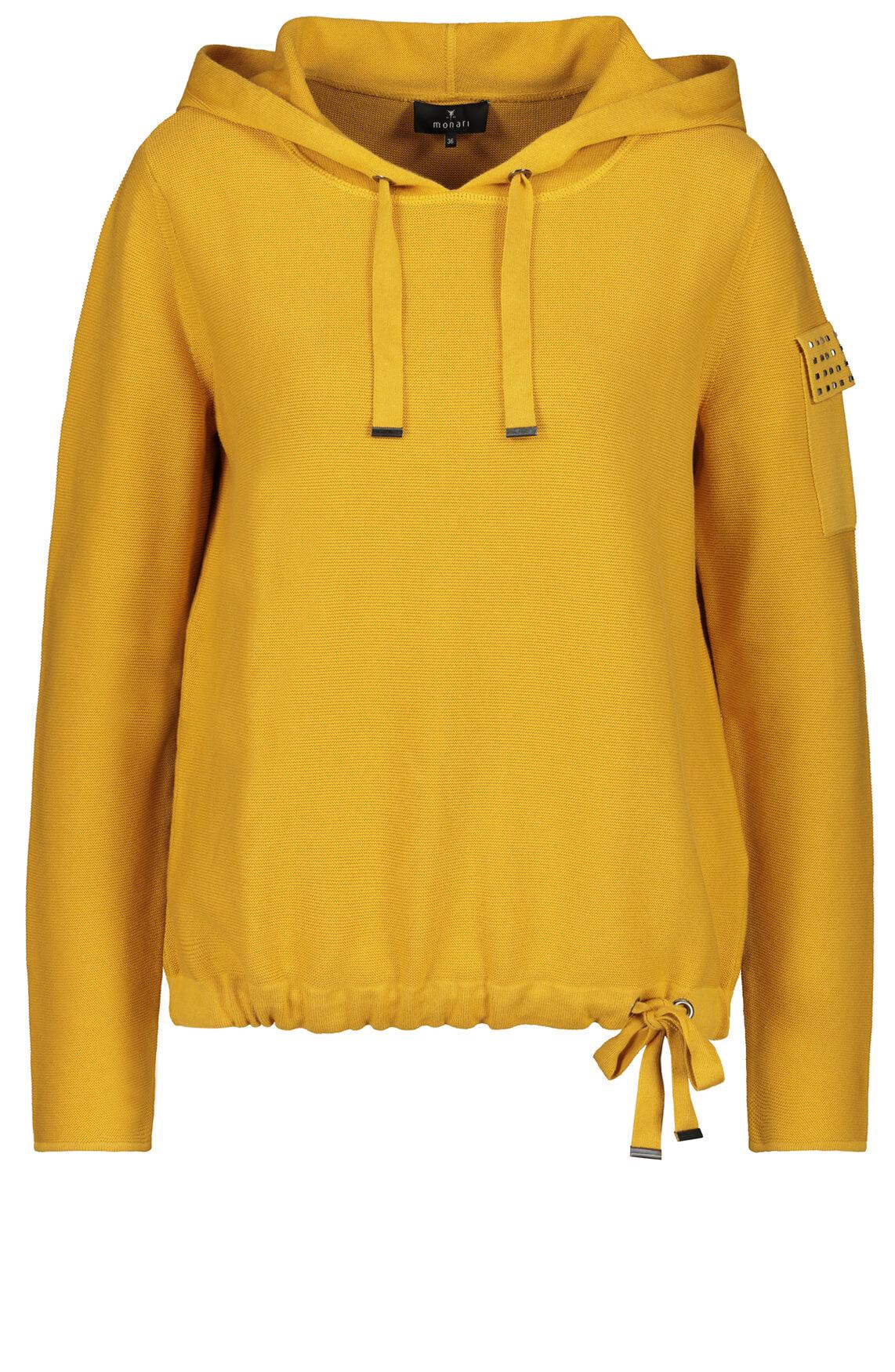 Monari Dames Sweater met capuchon geel