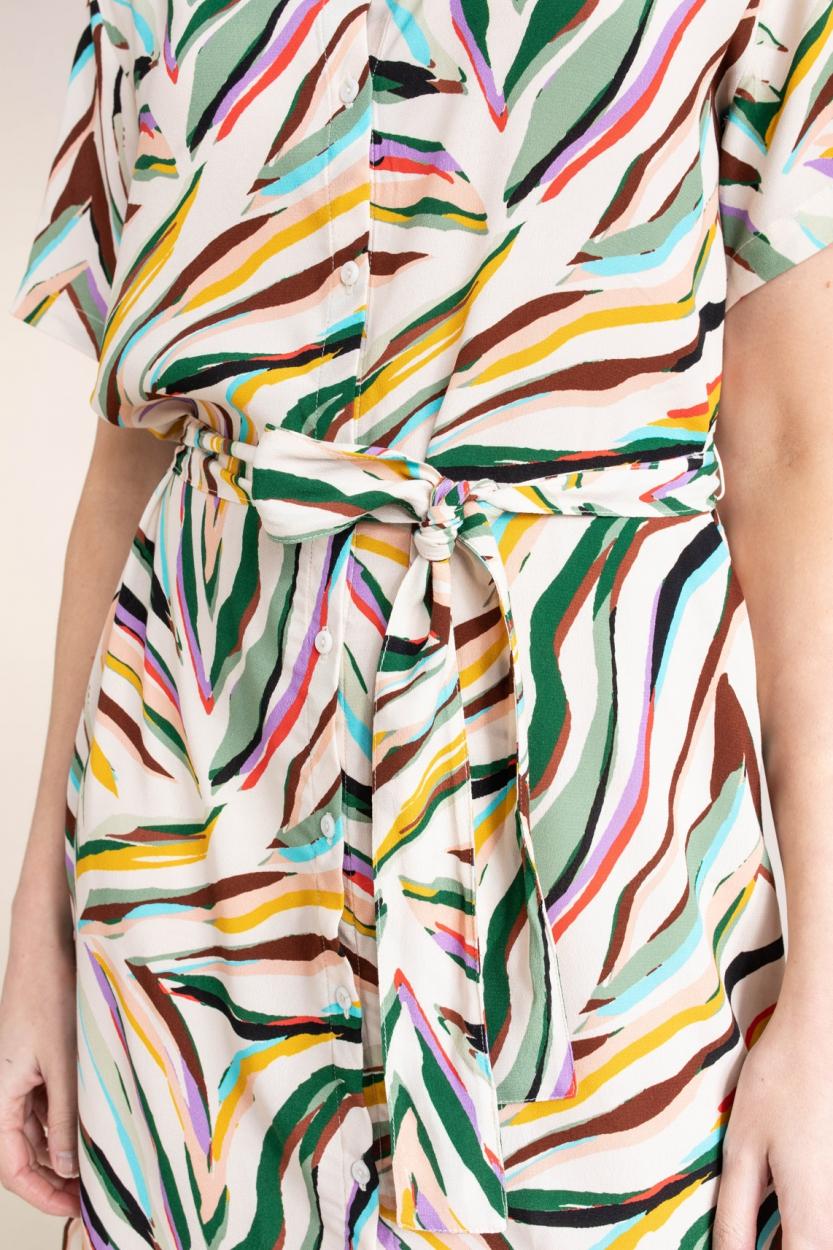 Anna Dames Kleurrijke jurk Groen