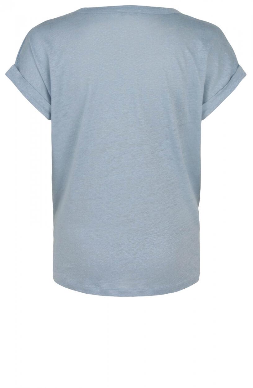 Anna Dames Linnen shirt Blauw