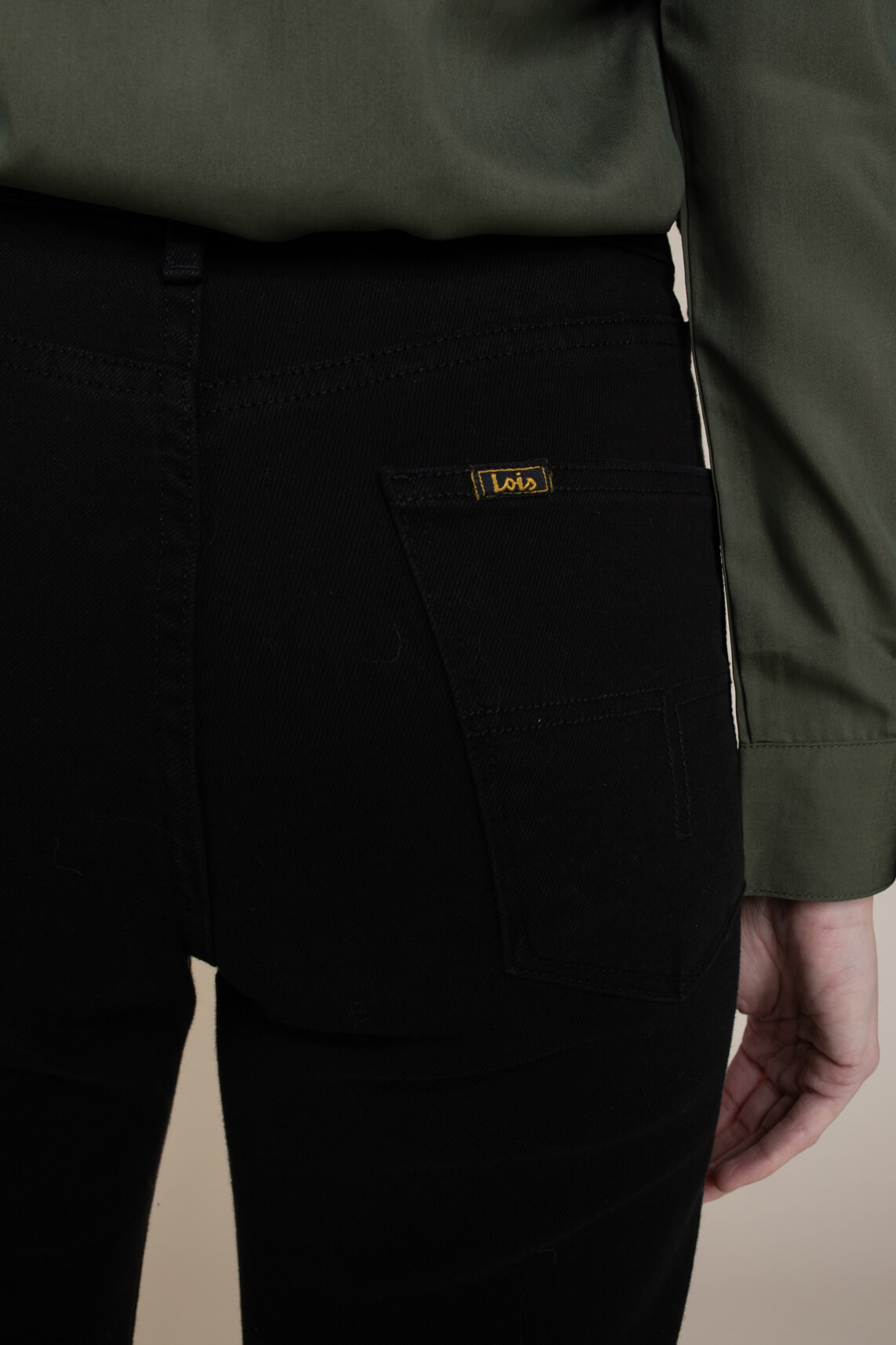 Lois Dames Dana jeans Zwart