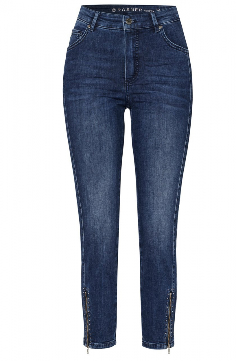 Rosner Dames Jeans met studdetail Blauw
