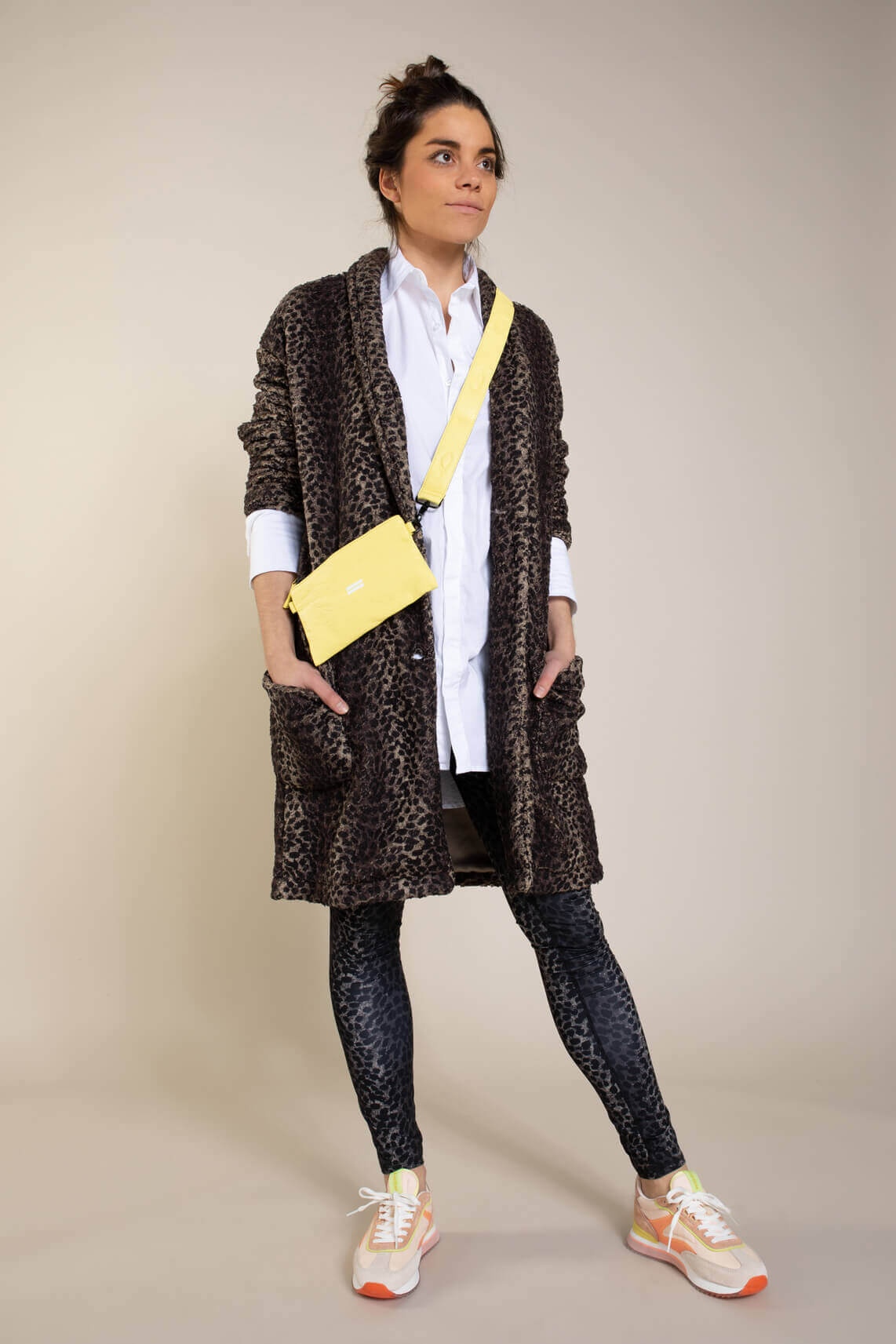 10 Days Dames Leopard coat Bruin