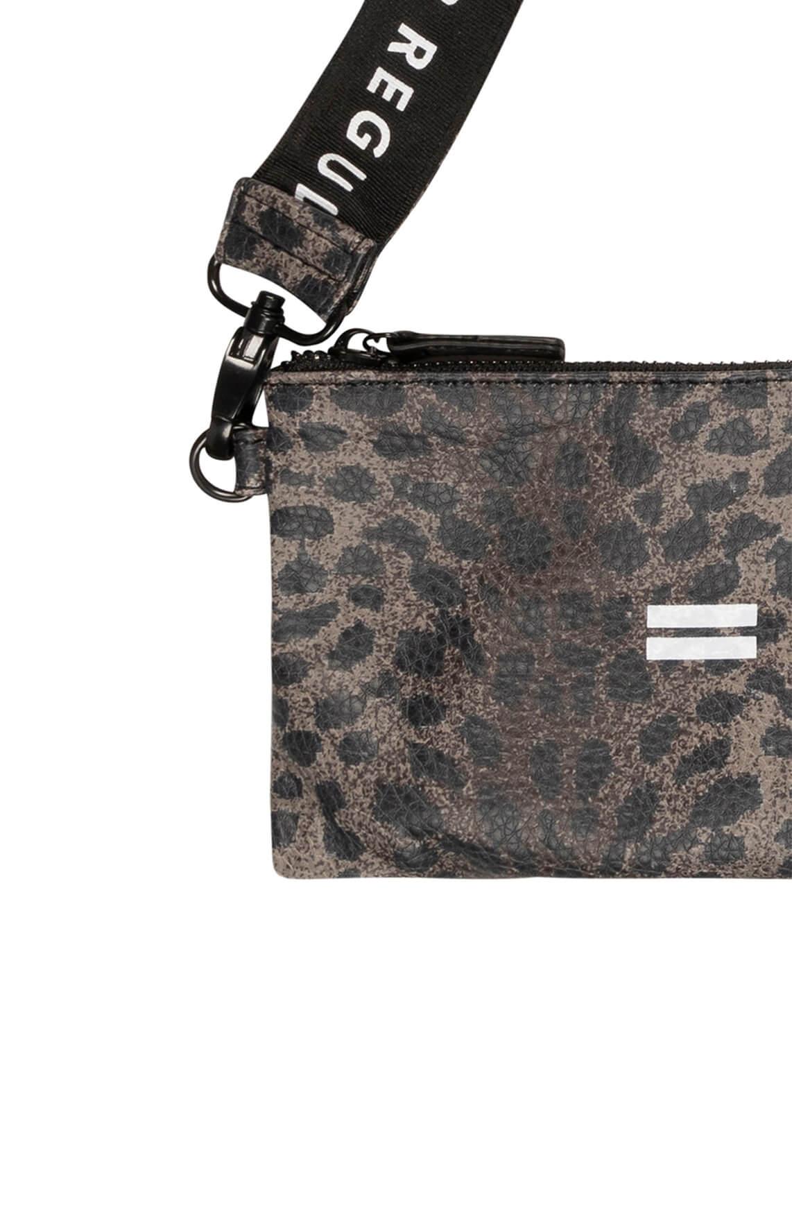 10 Days Dames Leopard mini pouch Bruin