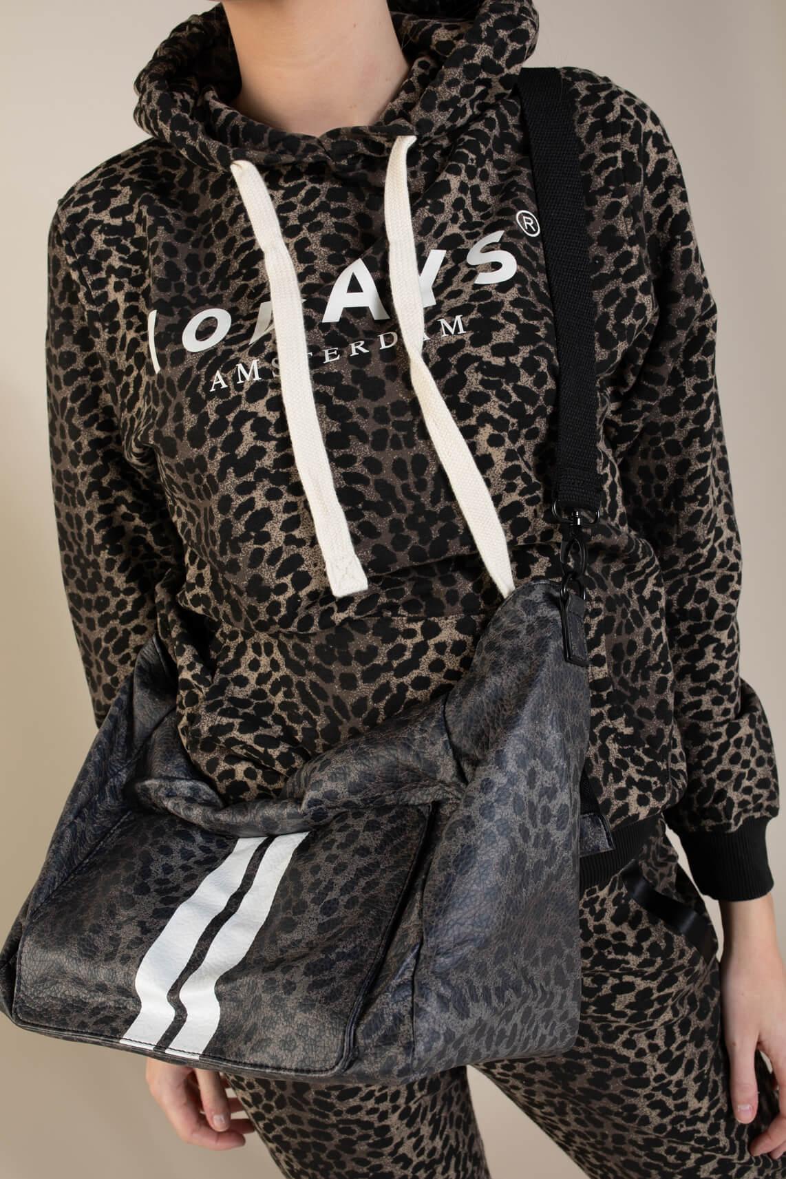 10 Days Dames Leopard hoodie Bruin