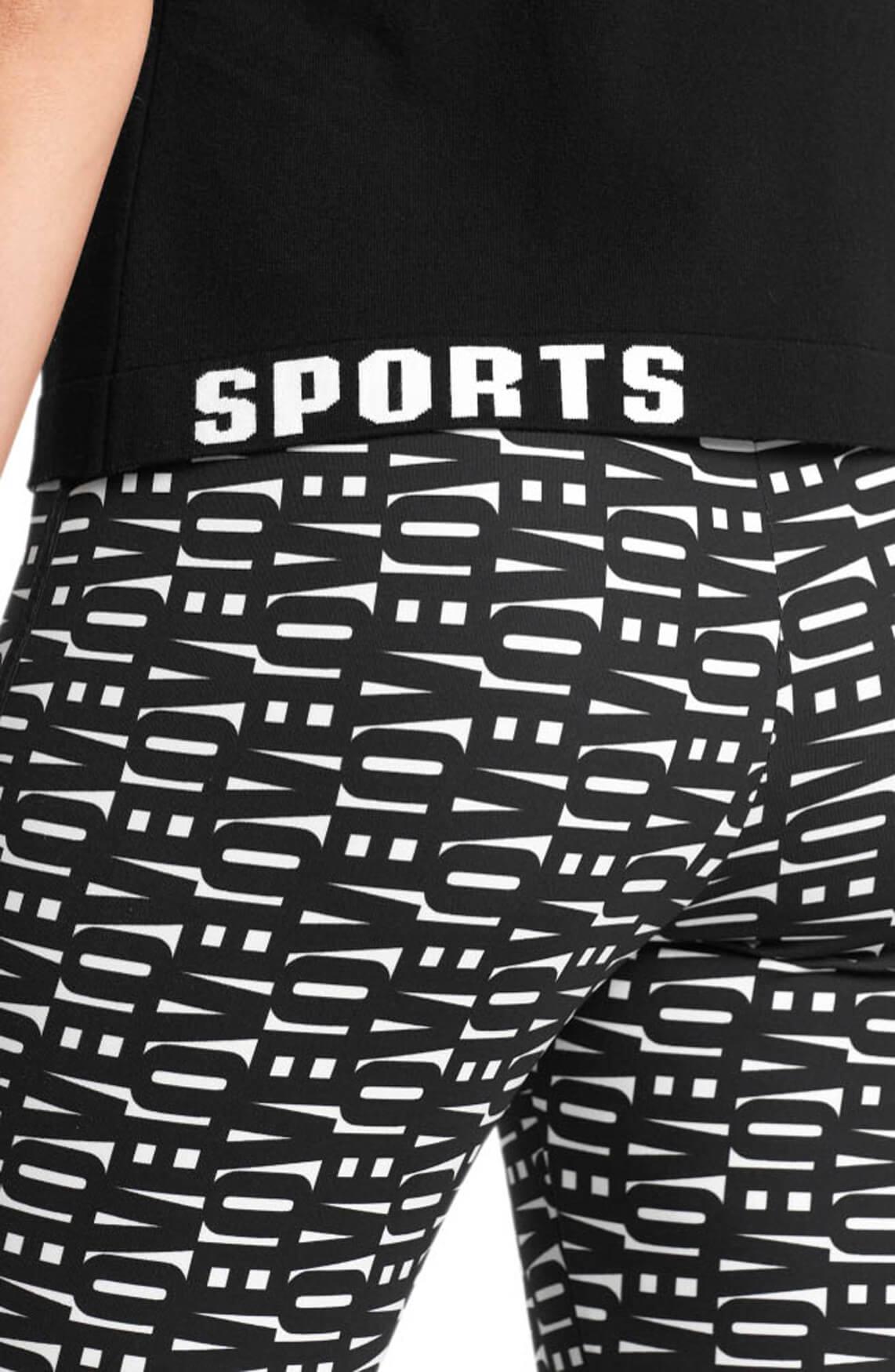 Marccain Sports Dames Poloshirt Zwart
