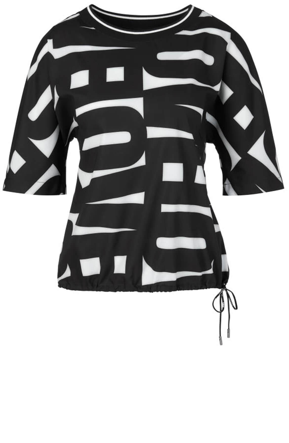 Marccain Sports Dames Love letter blouse Zwart