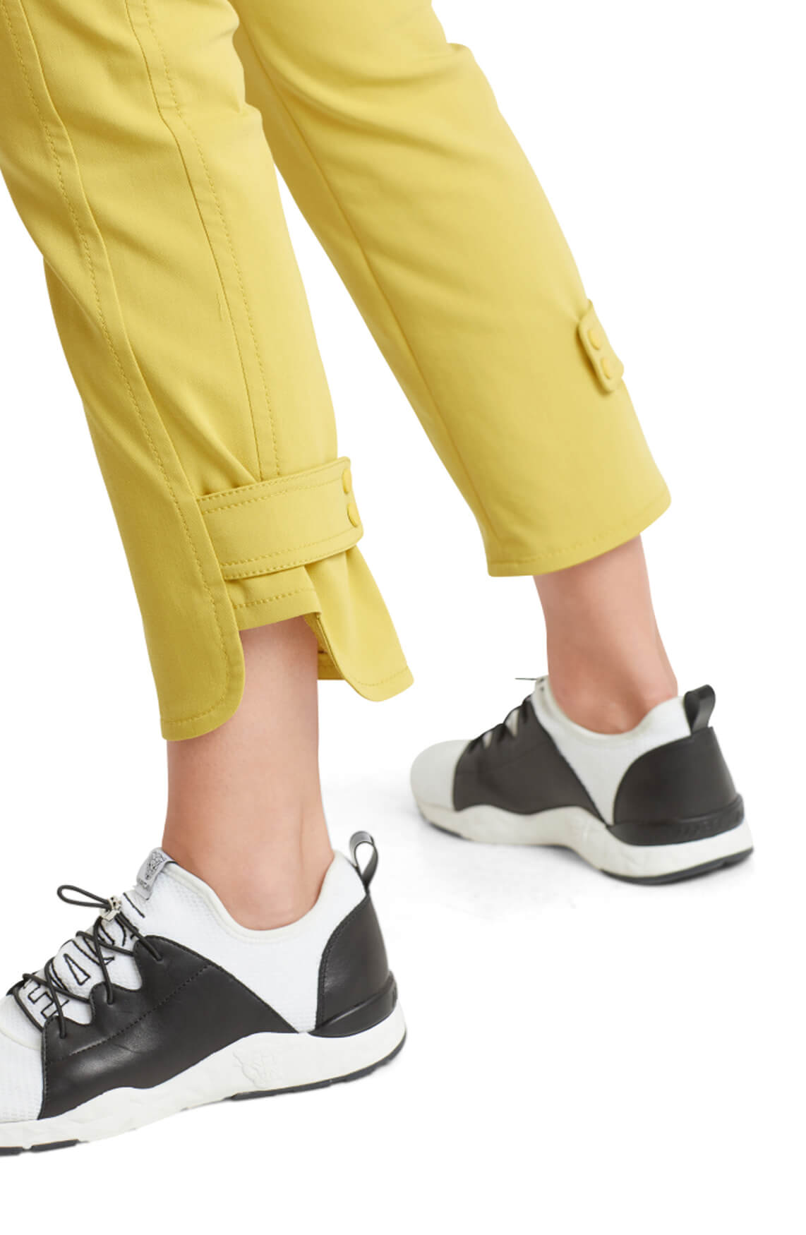 Marccain Sports Dames Pantalon van stretch geel