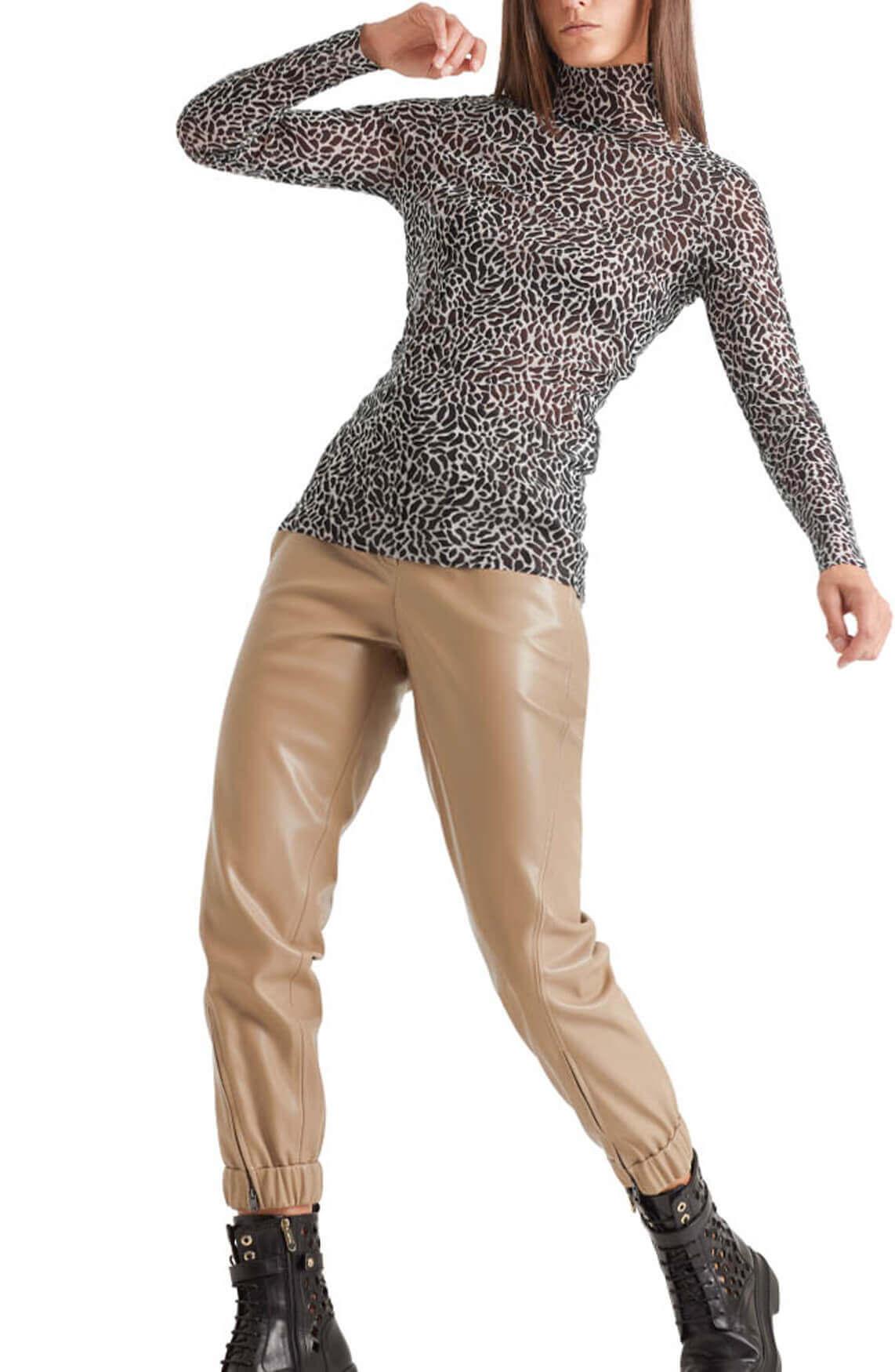 Marccain Sports Dames Luipaard shirt Zwart