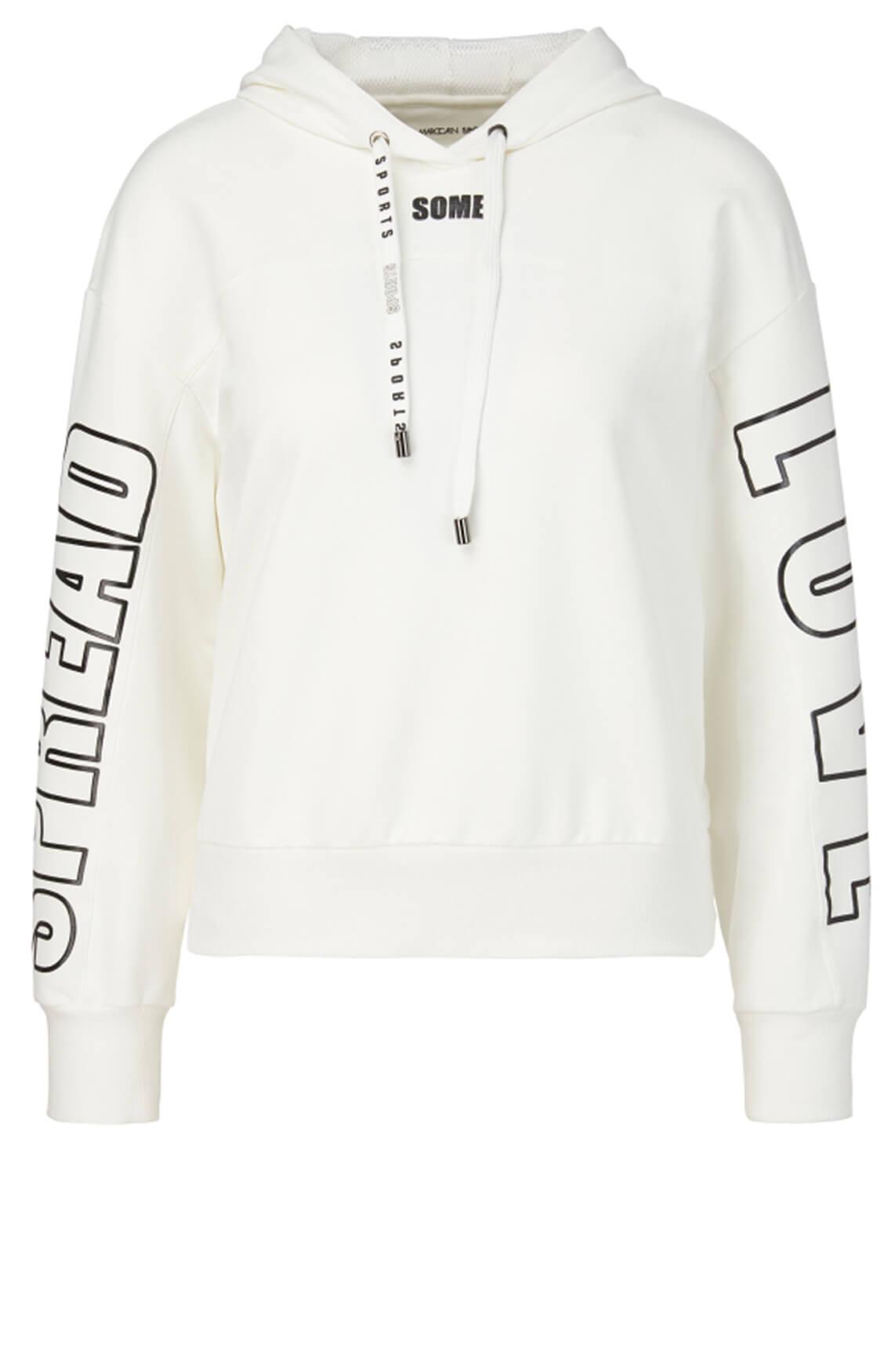 Marccain Sports Dames Sweater met tekstopdruk Wit