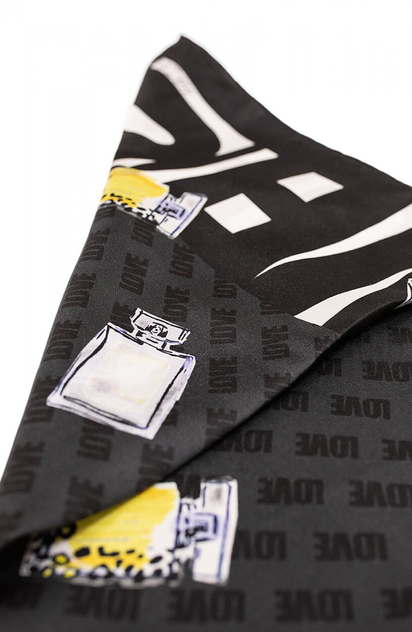 Marccain Sports Dames Zijden shawl Zwart