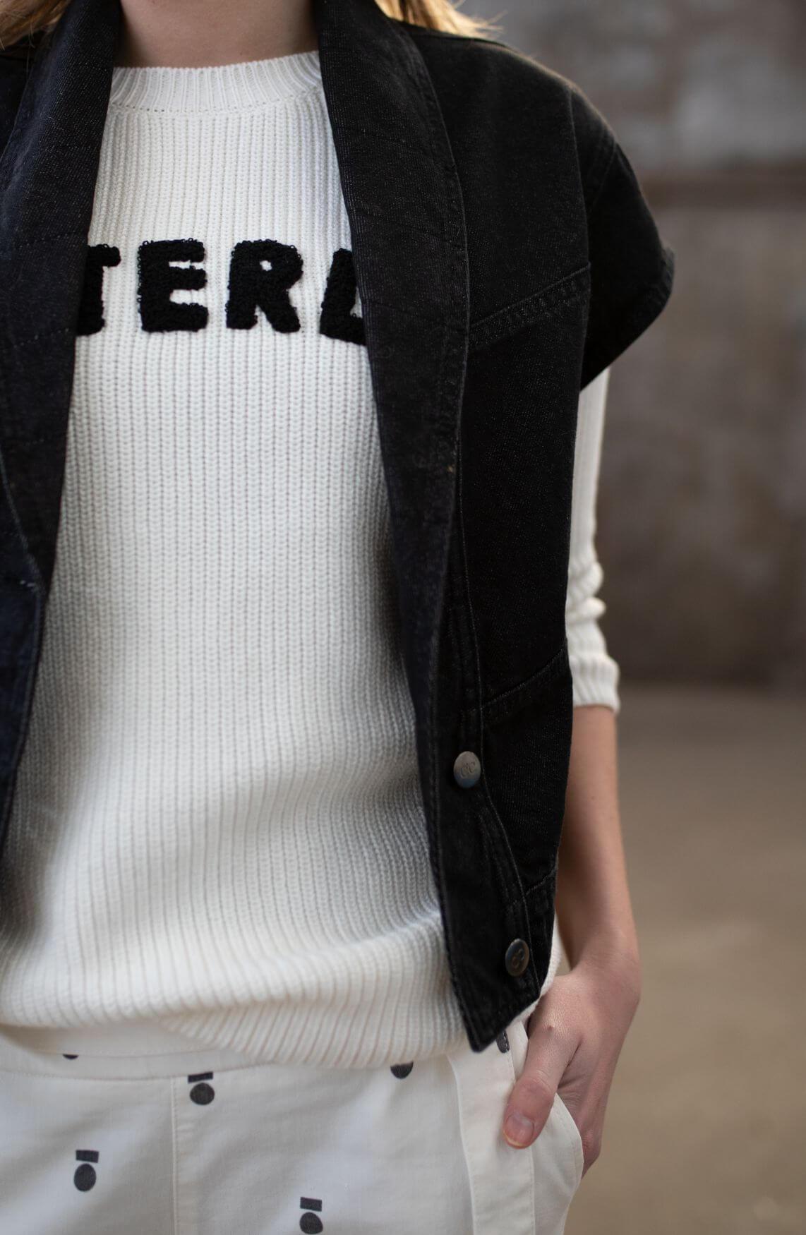Co Couture Dames Zayn denim jack Zwart