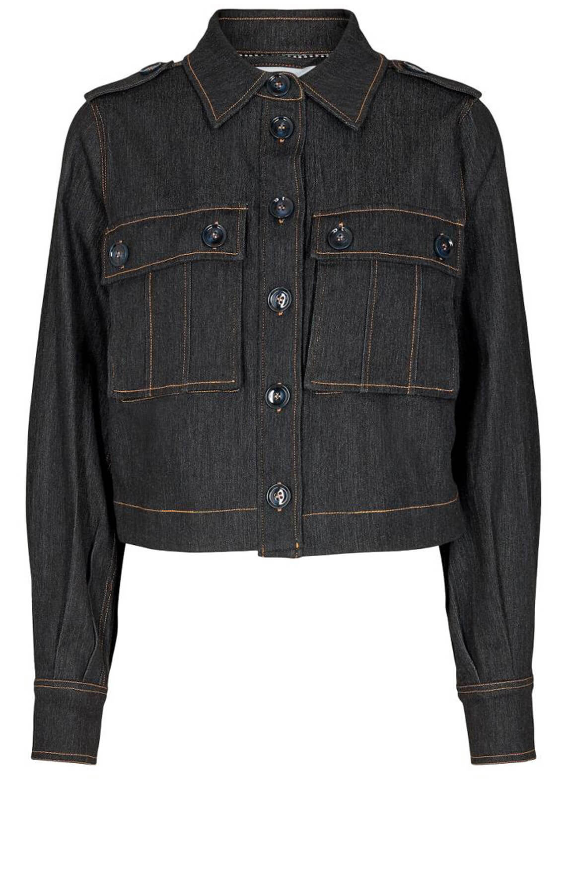 Co Couture Dames Ibbie denim jack Blauw