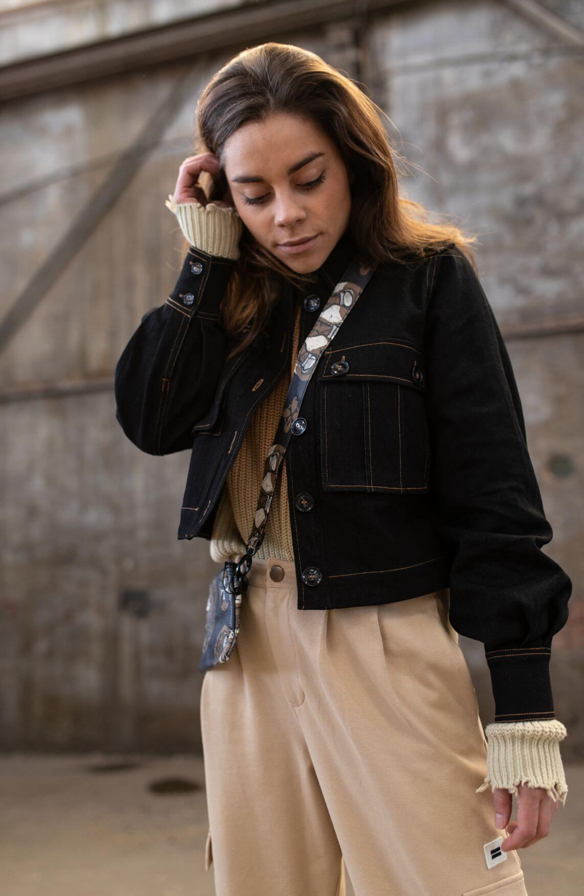 Co Couture Dames Ibbie denim jack Blauw