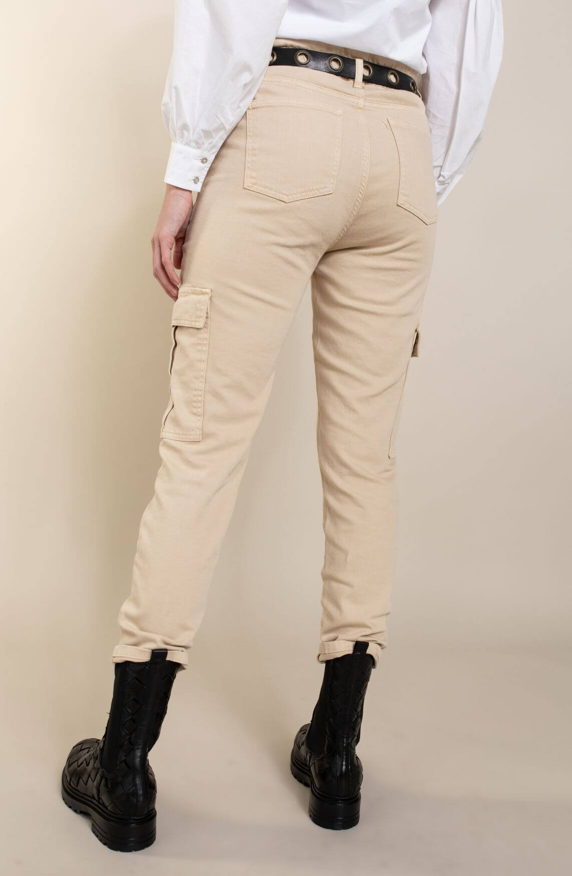 Co Couture Dames Rayna cargo jeans Ecru