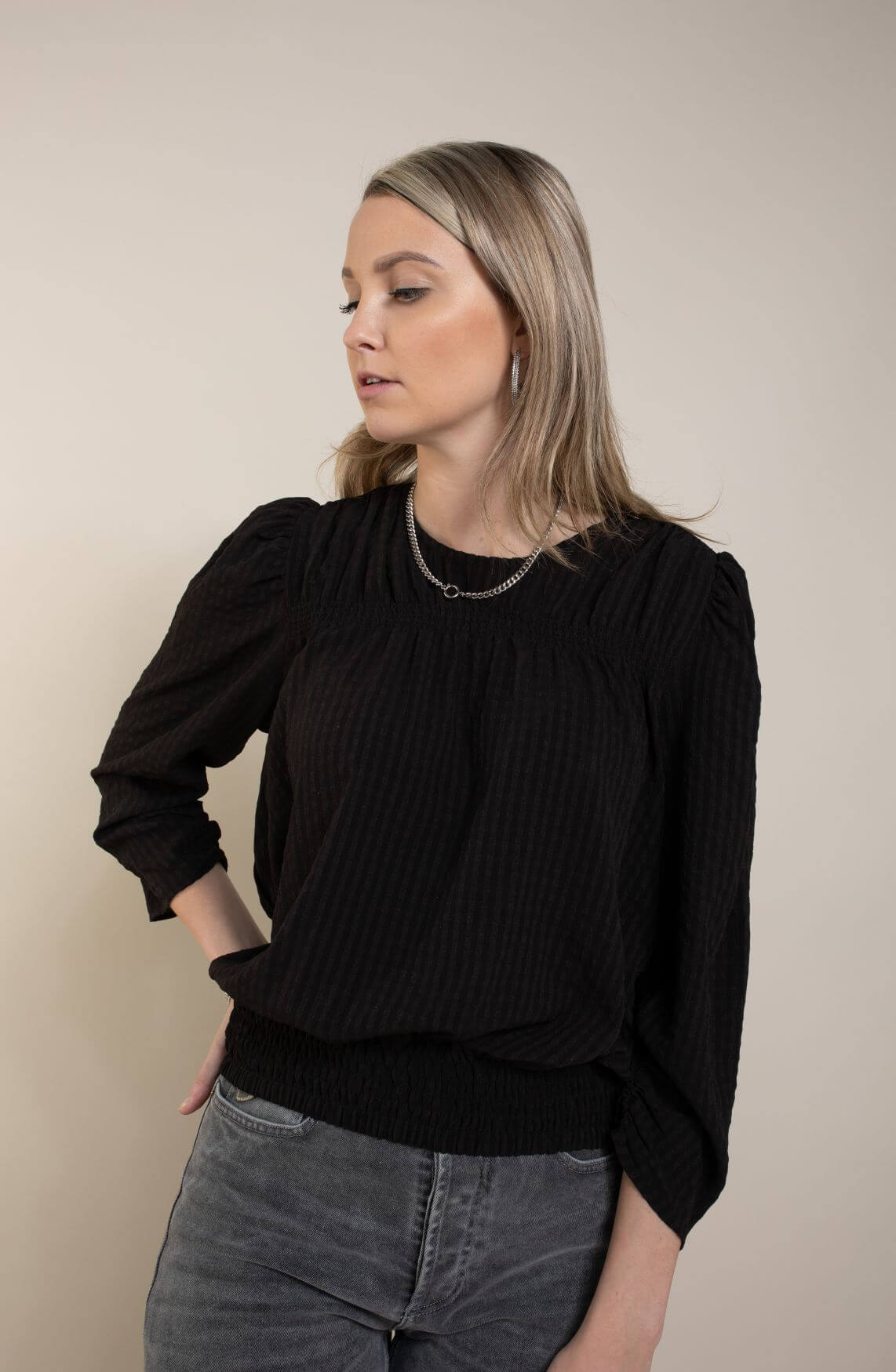 Co Couture Dames Ange blouse Zwart