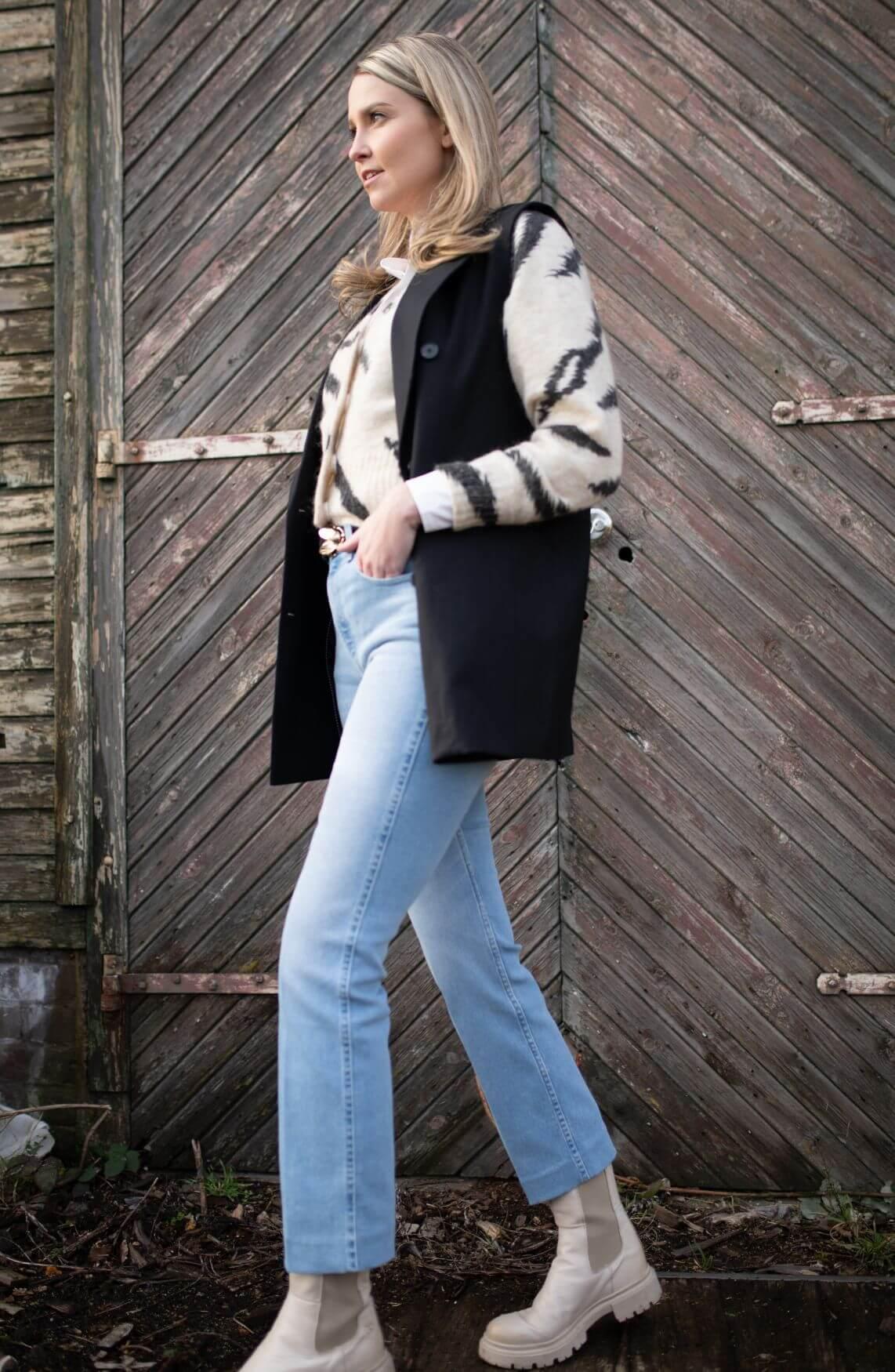 Co Couture Dames Chloe oversized gilet Zwart