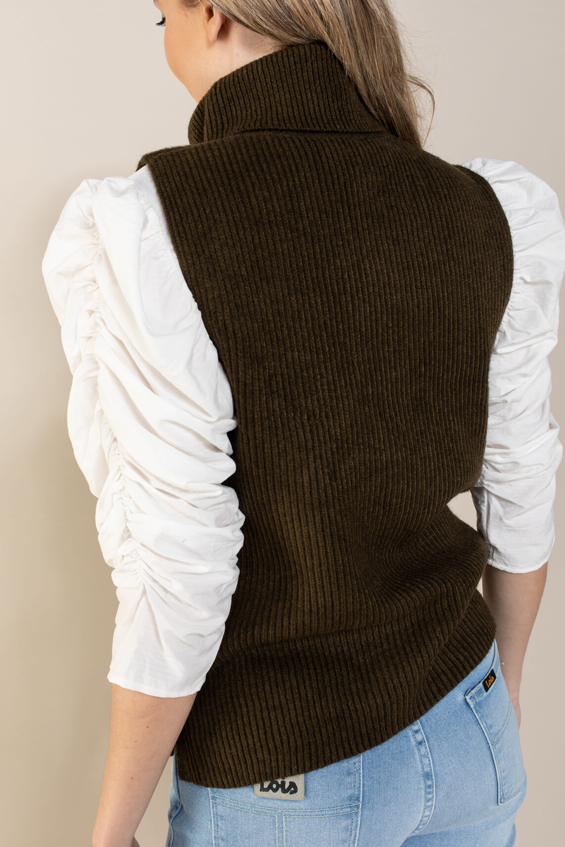 Co Couture Dames Button spencer Groen