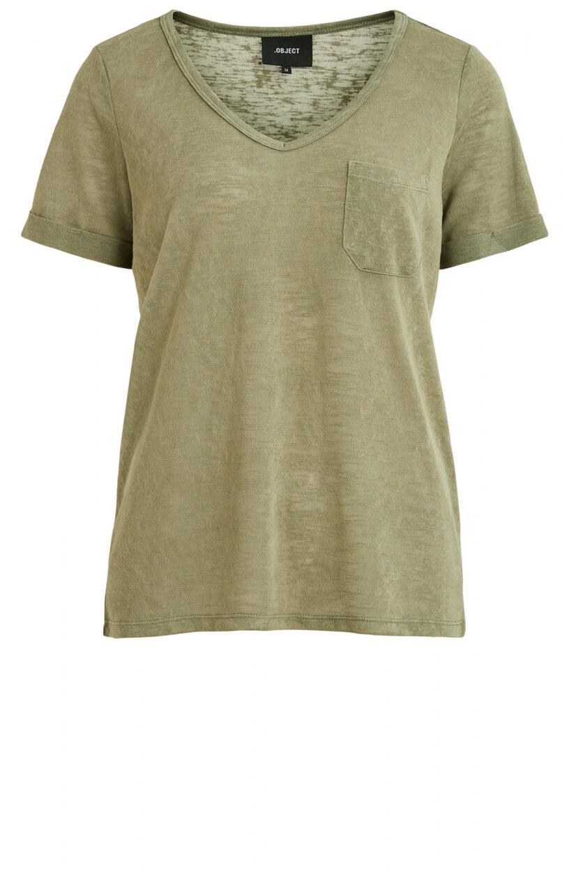 Object Dames Tessi shirt Groen