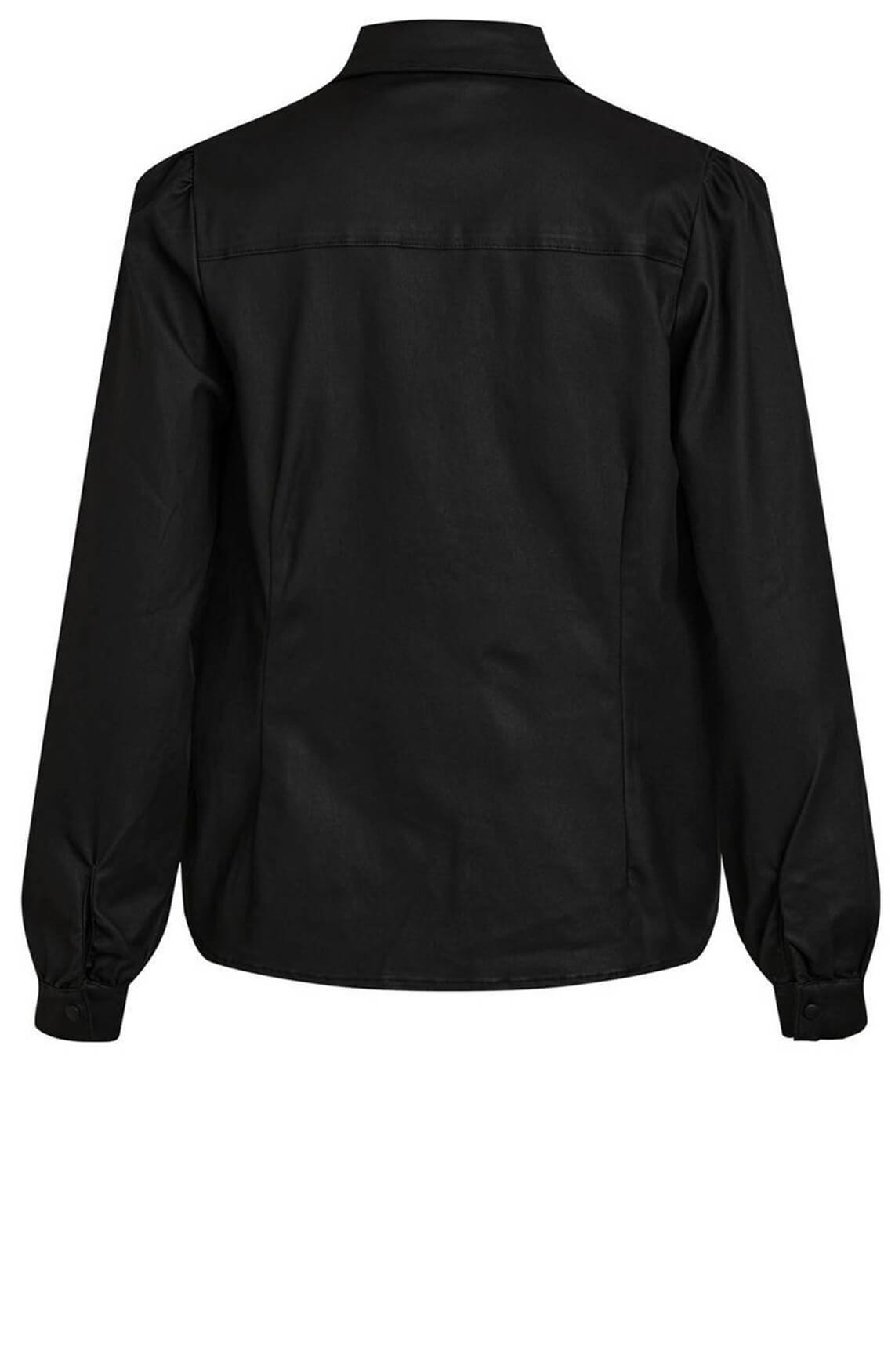 Object Dames Carla gecoate blouse Zwart