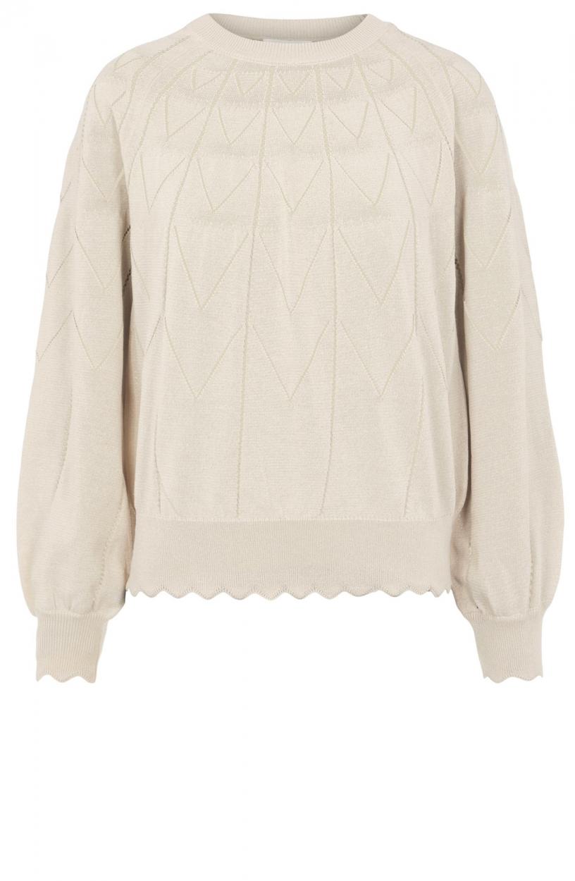 Object Dames Noelle pullover Ecru