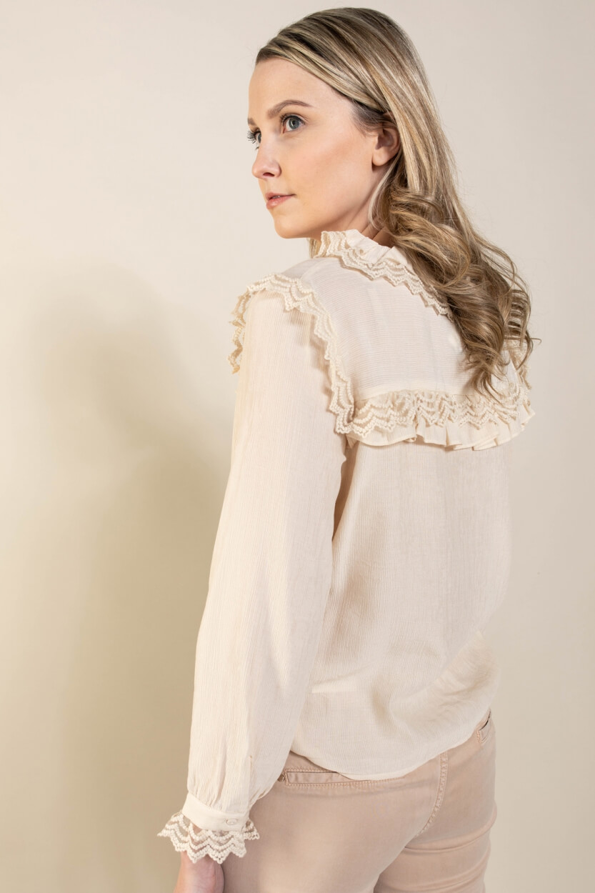 Object Dames Victoriana blouse Ecru