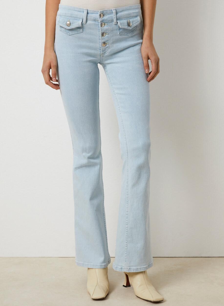 Lois Dames Lichte jeans met flared Blauw