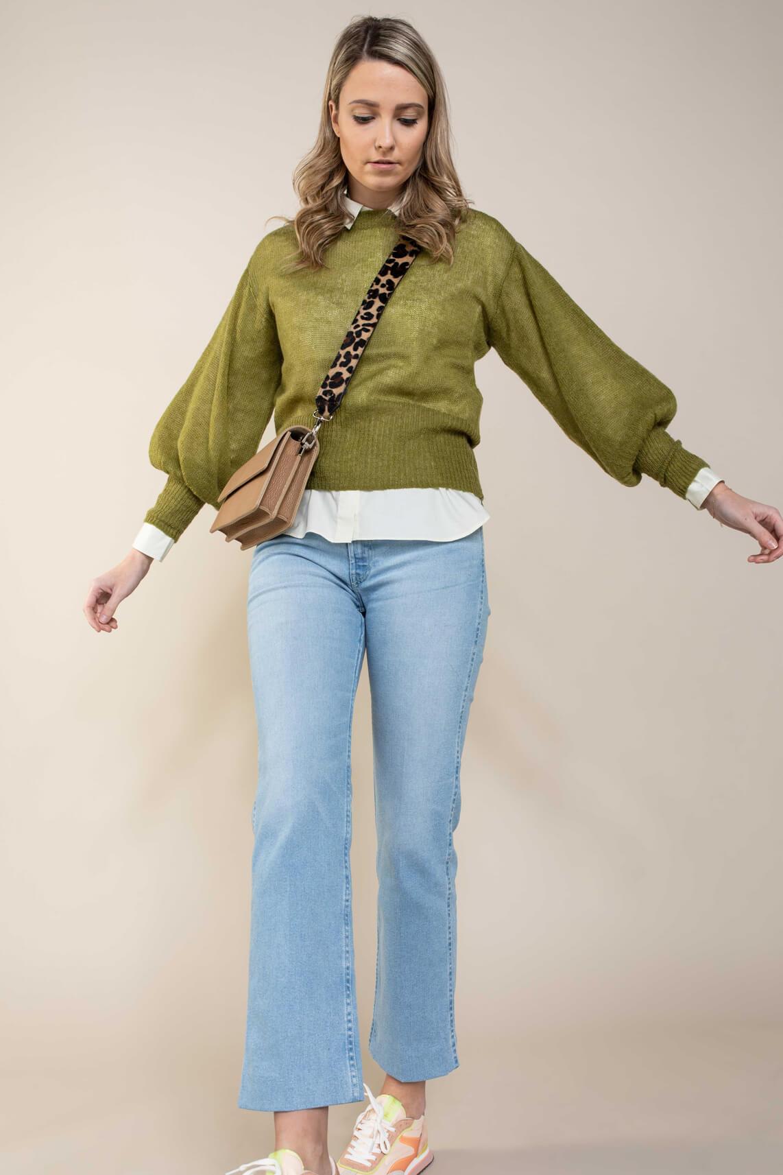 Nümph Dames Chantal pullover Groen