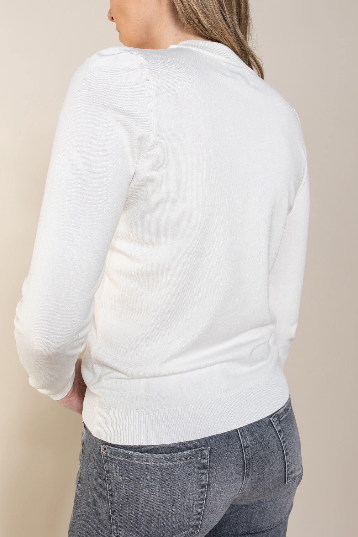 Numph Dames Baojin pullover wit