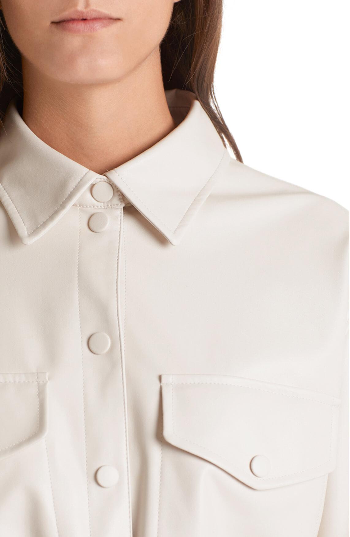 Marccain Dames Leren blouse Ecru