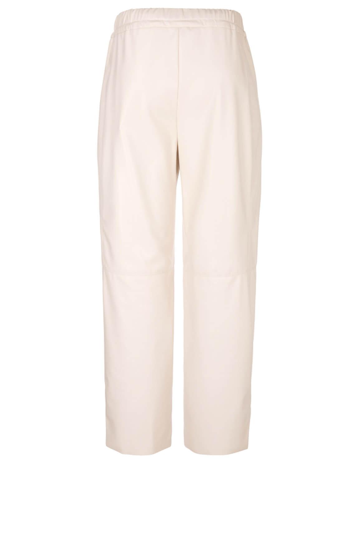 Marccain Dames Imitatieleren pantalon Ecru