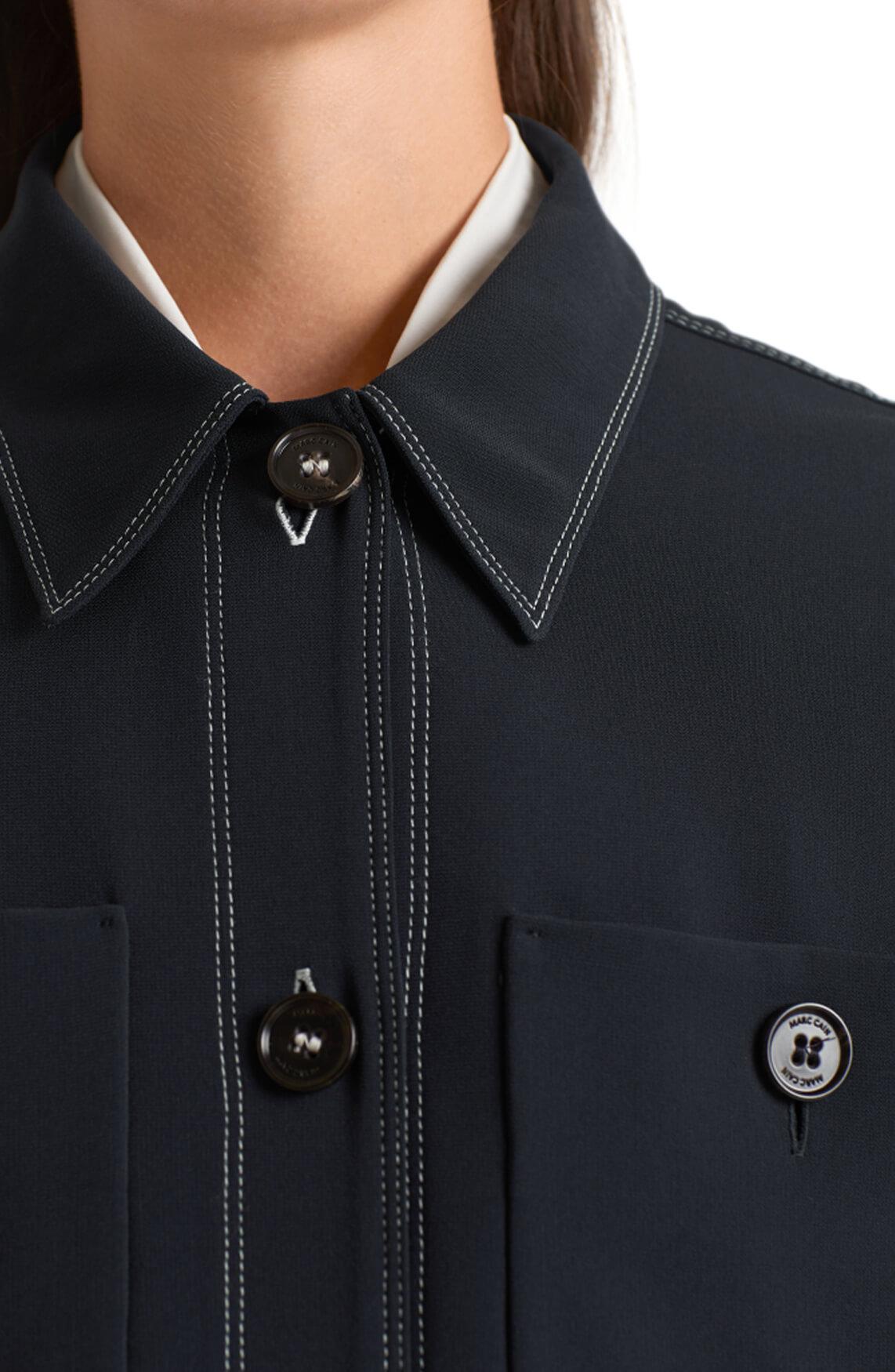 Marccain Dames Overhemd jack Blauw