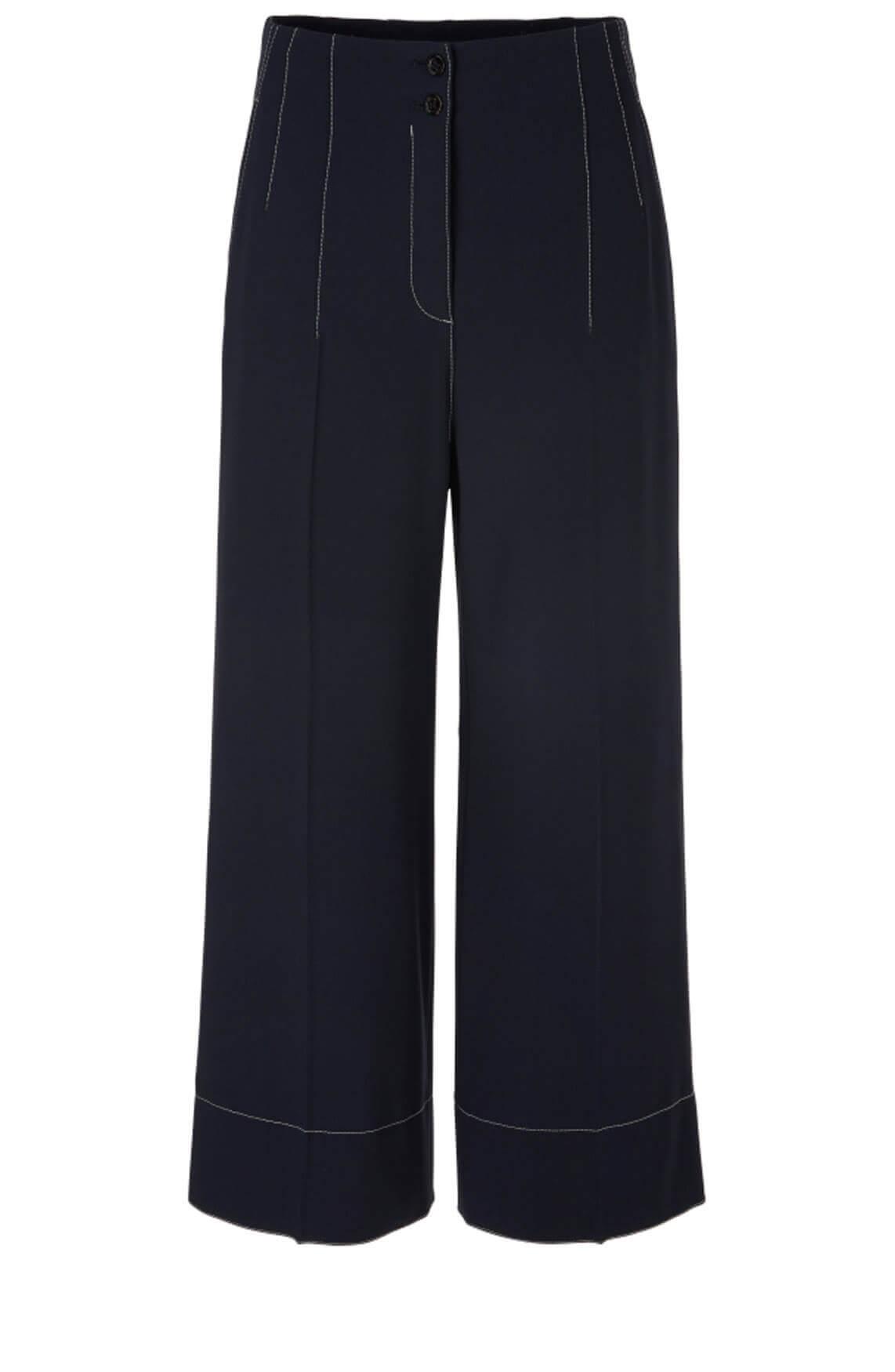 Marccain Dames Culotte met contrasterende naden Blauw