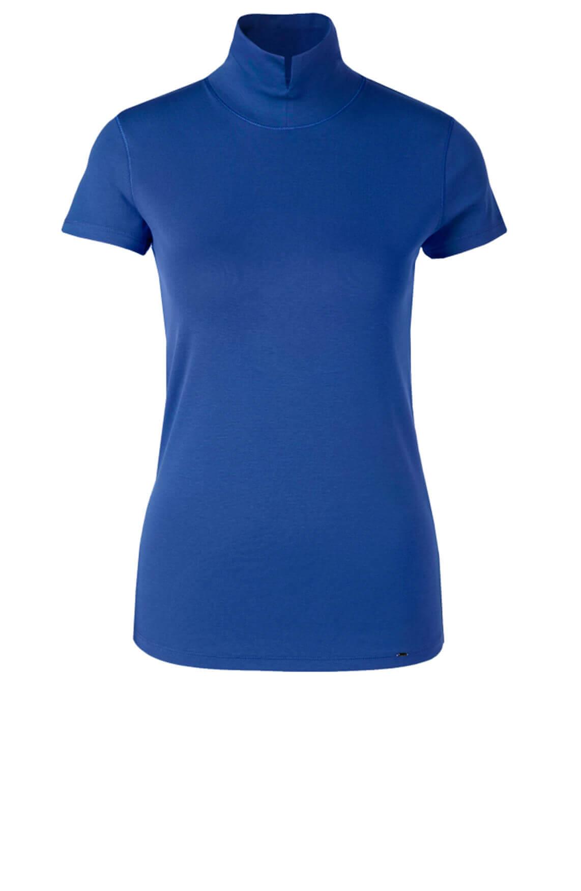 Marccain Dames Shirt met opstaande kraag Blauw