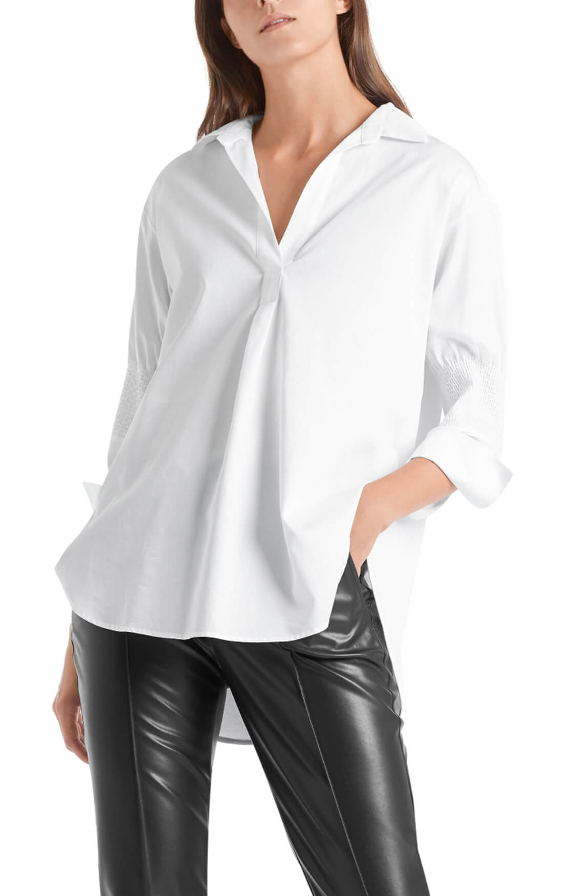 Marccain Dames Blouse met smokwerk Wit