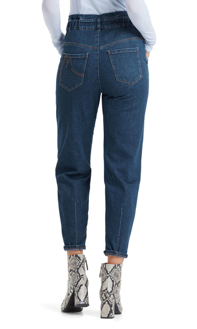 Marccain Dames Paperbag jeans Blauw