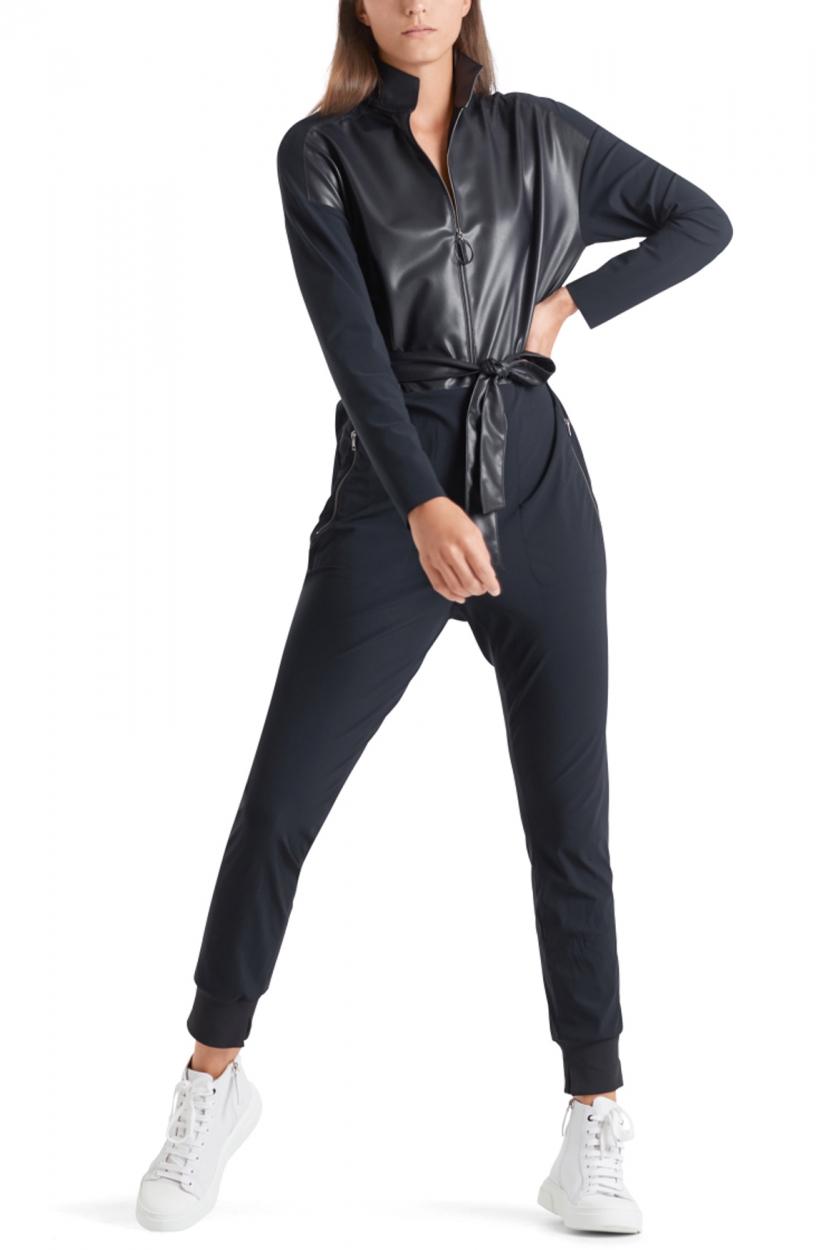 Marccain Sports Dames Jumpsuit met leerdetails Blauw