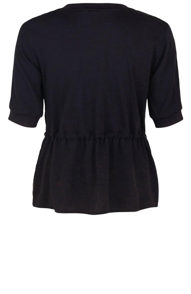 Marccain Sports Dames Shirt met trekkoord Blauw
