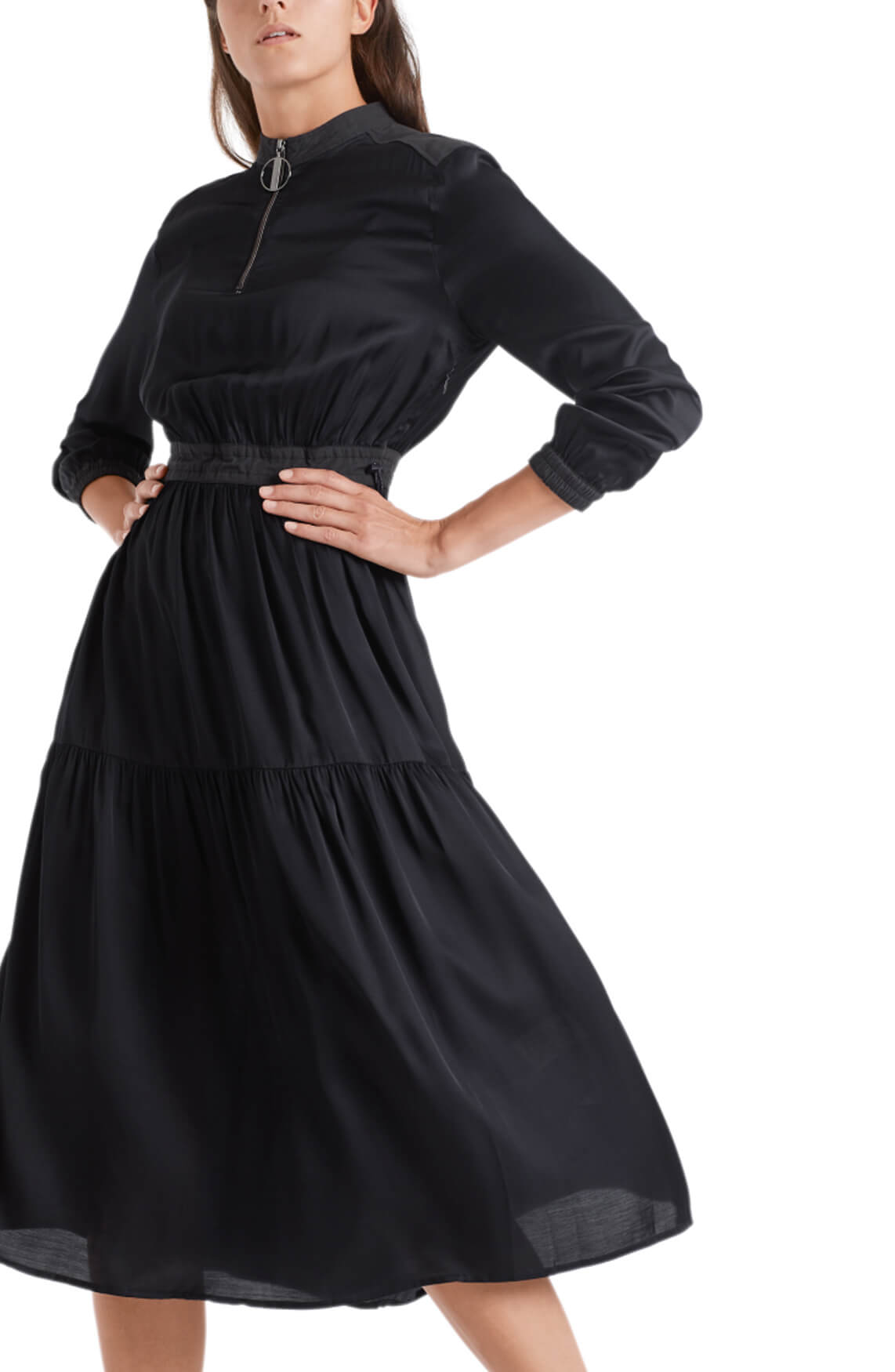 Marccain Sports Dames Glanzende jurk Blauw