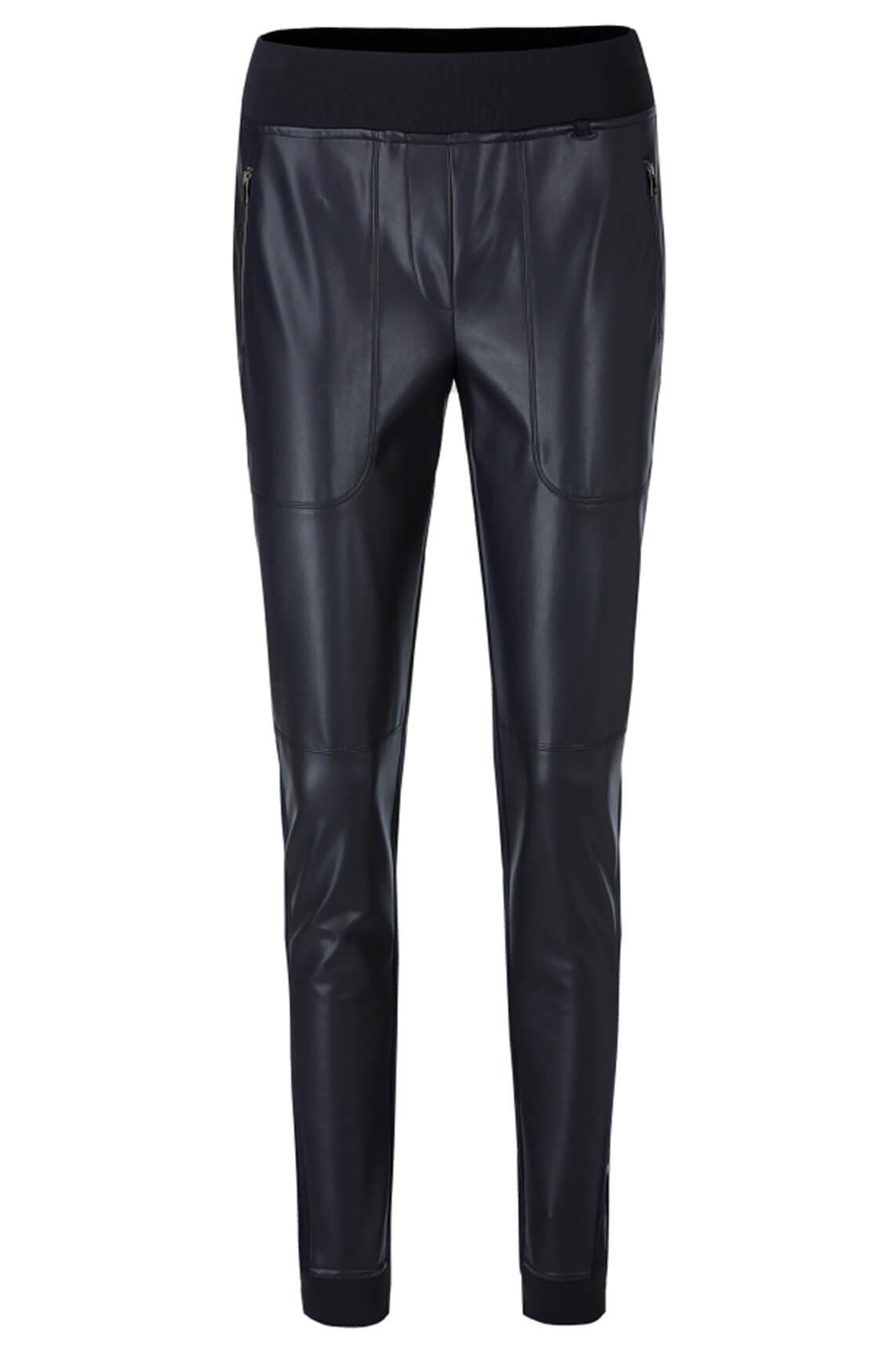 Marccain Sports Dames Pantalon van materiaalmix Blauw