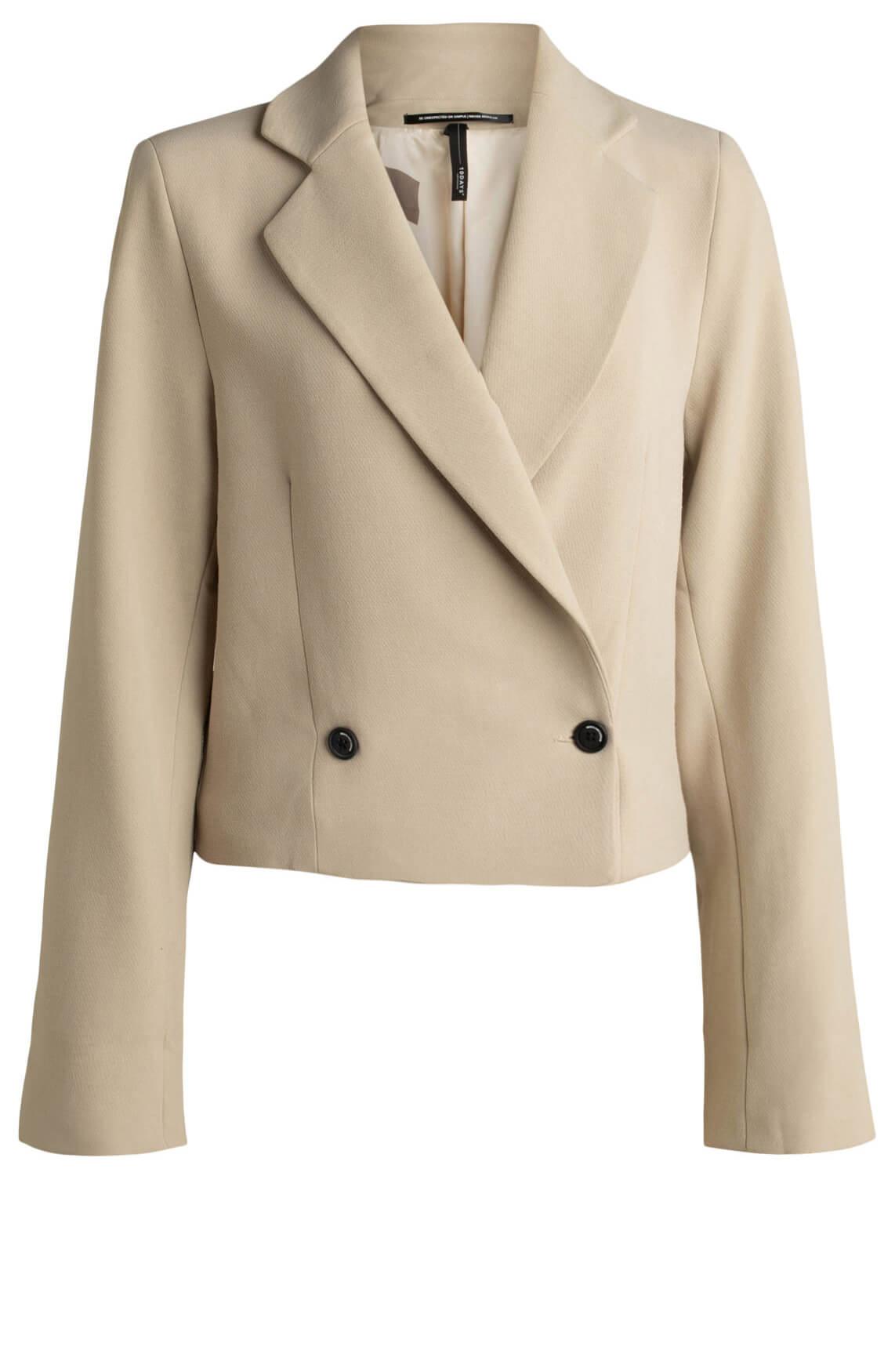 10 Days Dames Cropped blazer Bruin