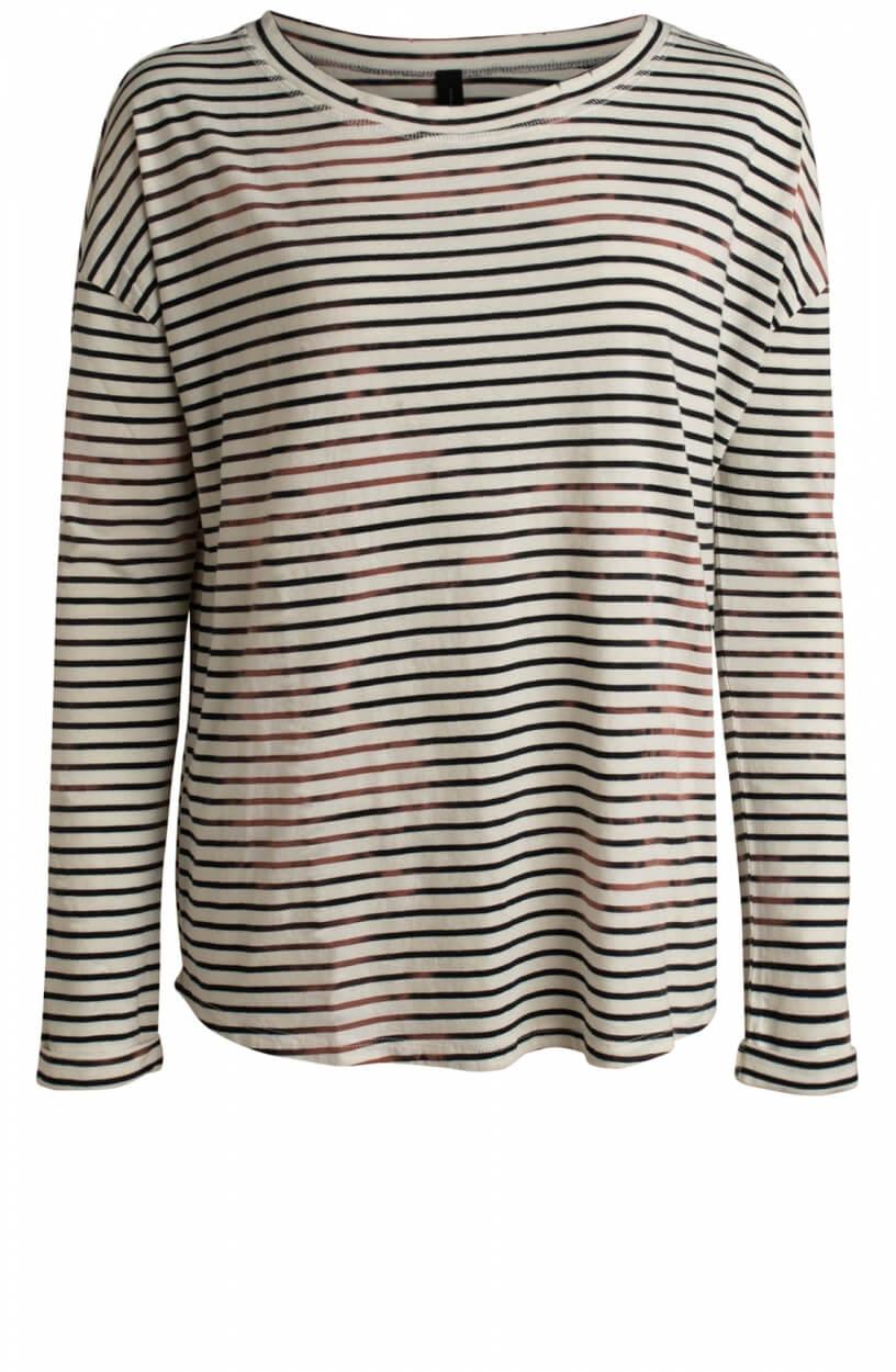 10 Days Dames Vintage stripes shirt Wit
