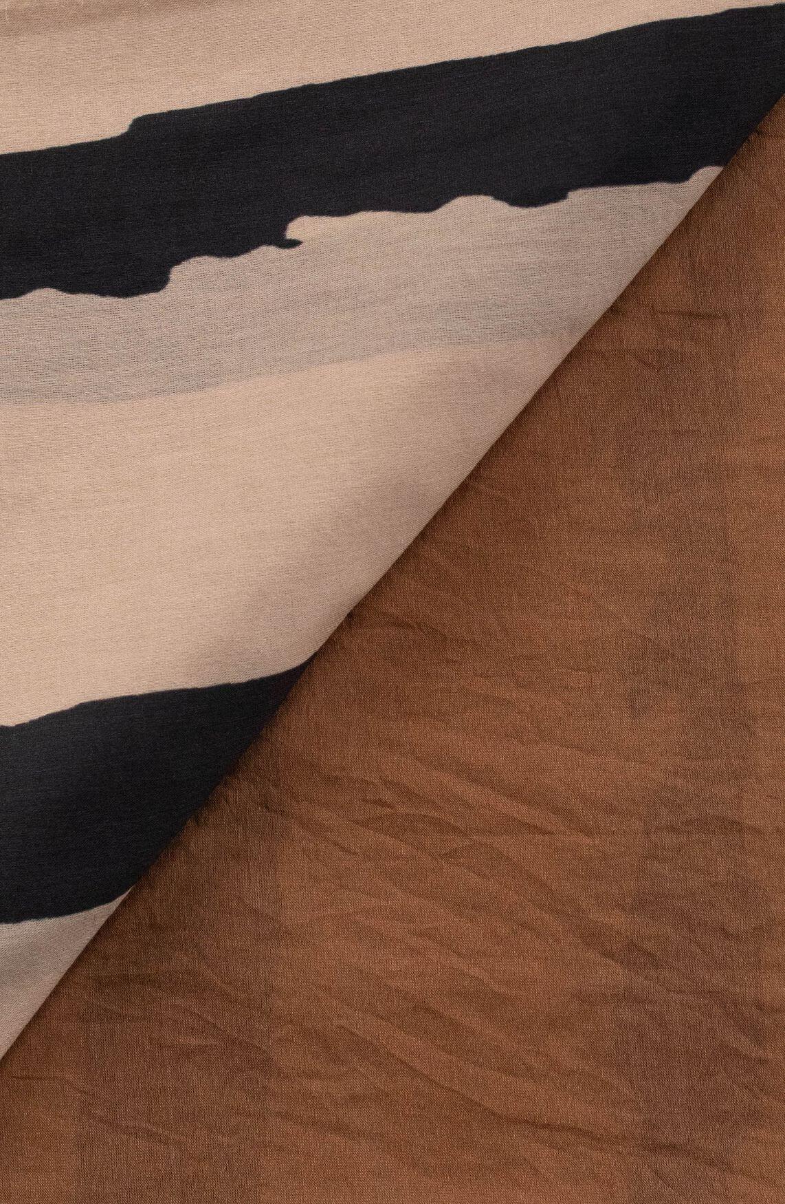 10 Days Dames Gestreepte shawl Bruin