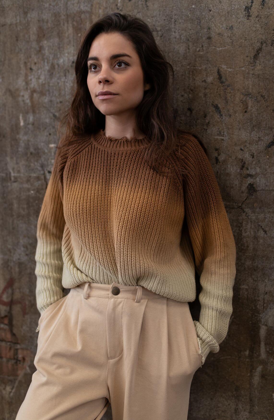 10 Days Dames Sweater dark caramel Bruin