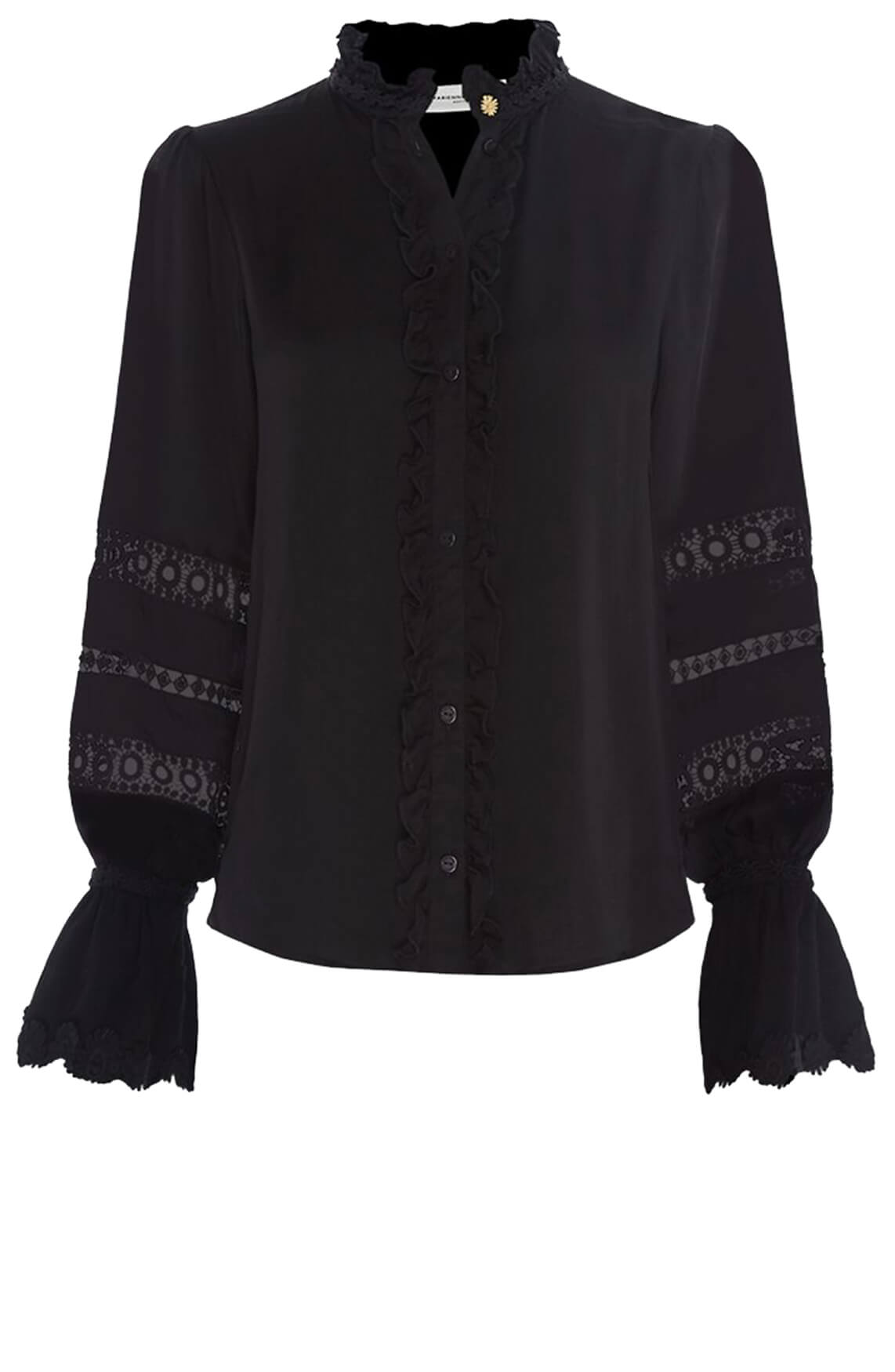 Fabienne Chapot Dames Boho blouse Zwart