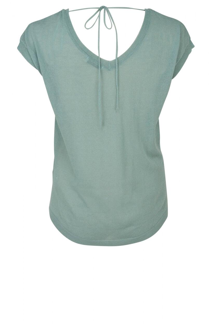 Anna Dames Shirt met strikdetail Groen