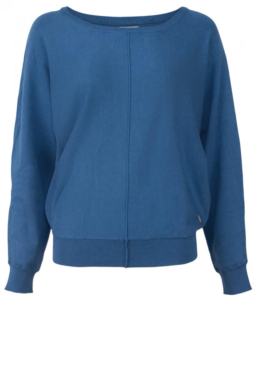 Anna Dames Wijde pullover Blauw